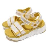 Skechers 涼鞋 Max Cushioning Gallery 女鞋 米 黃 厚底 增高 休閒鞋【ACS】 140424WYL