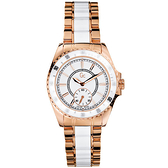 Gc 玫瑰金奢華時尚陶瓷錶~SWISS MADE