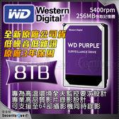 【台灣安防家】WD 8TB 3.5吋 監控 監視 紫標 硬碟 SATA6 勝 1TB 2TB SEAGATE TOSHIBA 監控碟