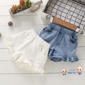女童短褲 牛仔短褲新款洋氣外穿百搭熱褲小童彈力褲女寶寶夏季薄款褲子 2色