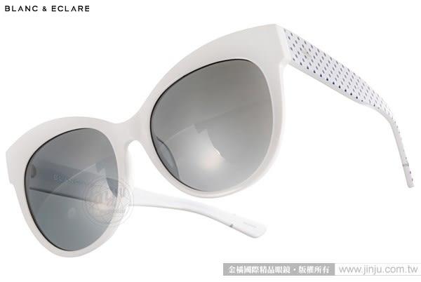 BLANC&ECLARE 太陽眼鏡 PARIS WN (白-藍點) 潔西卡個人品牌 城市系列 -- 巴黎 # 金橘眼鏡