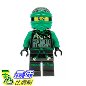 [106 美國直購] LEGO Kids 9009402 人偶鬧鐘 忍者 Ninjago Sky Pirates Lloyd Mini-Figure Light Up Alarm Clock