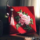 婚慶盒 朱砂痣 古典中式禮物文藝刺繡大首飾盒帶鎖化妝盒嫁妝盒結婚禮品【美物居家館】
