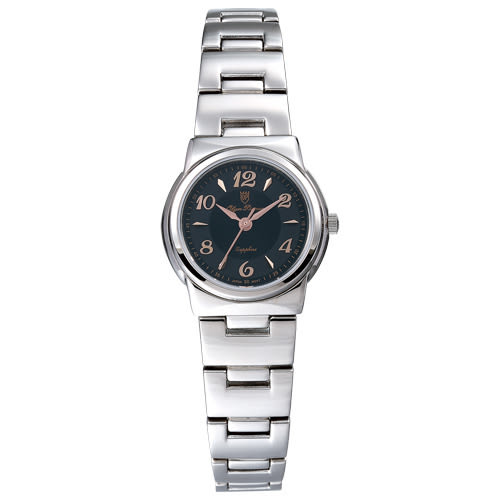 Olym Pianus 奧柏表 粉彩系列簡約腕錶-黑/23mm