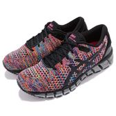 Asics 慢跑鞋 Gel-Quantum 360 Knit 2 黑 彩色 二代 針織鞋面 全腳掌亞瑟膠 女鞋【PUMP306】 T890N-9000