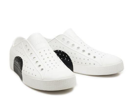 Native JEFFERSON 男款白黑修身休閒鞋 -NO.11100102-9222