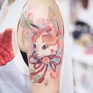 【買一送一】花臂日系浮世繪貓咪花朵鈴鐺軟妹少女紋身貼刺青【英賽德3C數碼館】