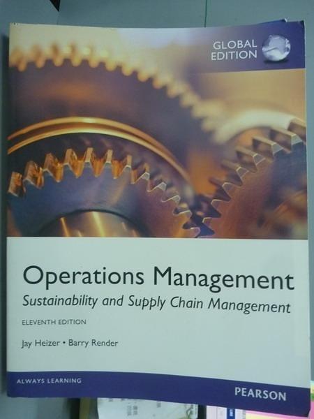 【書寶二手書T2/大學商學_PML】Operations Management_Heizer、Render_11/e