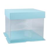 超火的生日蛋糕盒子6/8寸ins風純色透明蛋糕包裝盒單雙三四層5套