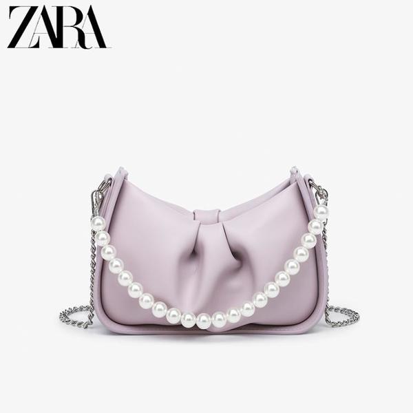珍珠鏈條包 女包2021新款褶皺網紅云朵包柔軟餃子包珍珠鏈條單肩腋下包 ww