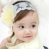 網紗花朵寬蕾絲髮帶 兒童髮飾 造型髮帶