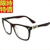 眼鏡架-復古大框時尚百搭男女鏡框6色67ac11[巴黎精品]