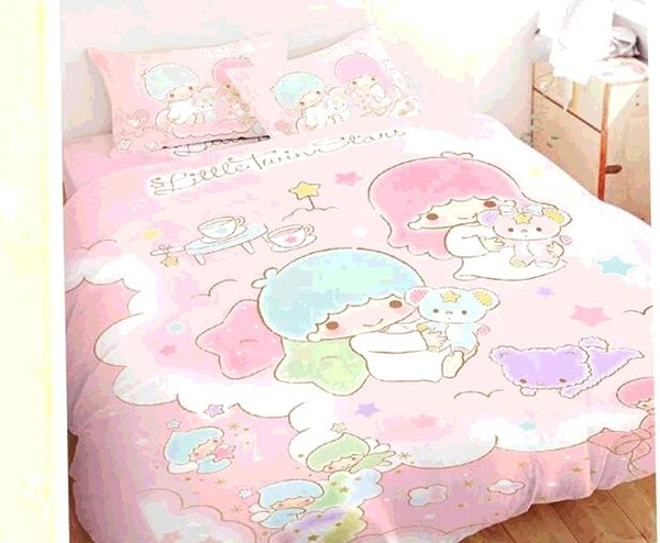 [COSCO代購] W131029 100%純棉雙人兩用床包被套4件組 - 雙星仙子 小熊扮家家