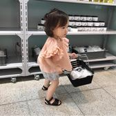 女童上衣 童裝1-3歲女童荷葉邊袖寬鬆上衣女寶寶娃娃衫短袖t恤 綠光森林