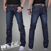牛仔褲休閒褲 夏季常規商務休閒直筒寬鬆牛仔褲男士青年寬鬆中大尺碼正韓長褲子 限時8折