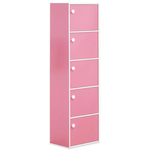 《百嘉美》(H)粉紅粉彩五門收納櫃/置物櫃 斗櫃 置物櫃 電腦桌 電腦椅 立鏡 鞋架 鞋櫃 衣櫃