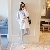 孕婦T 恤春夏寬鬆中長款 體恤打底衫懷孕期休閒上衣孕婦裝春裝~夢娜麗莎~