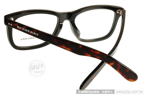 BURBERRY 眼鏡 BU2212F 3554 (黑-琥珀) 知性成熟簡約百搭款 # 金橘眼鏡