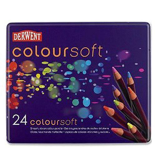 Derwent 達爾文 colorset 軟性顏色鉛筆系列24色入 *07401027