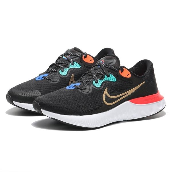 NIKE 休閒鞋 RENEW RUN 2 黑 金勾 紅藍橘 慢跑 訓練 運動 男 (布魯克林) DJ0033-061