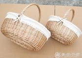 野餐籃 提籃 手提水果籃 野餐籃 雞蛋籃 花籃 購物籃 禮品籃   【雙十二免運】