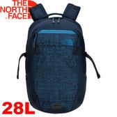 【The North Face 28L 15吋電腦背包 都會藍/班夫藍】 NF0A2RD7/電腦背包/登山包/後背包★滿額送