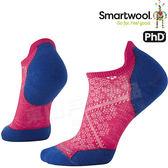 Smartwool PhD Run LT SW210-906魔紅 女輕量減震型跑步踝襪 美麗諾羊毛襪/戶外襪機能無筒襪/運動襪船襪