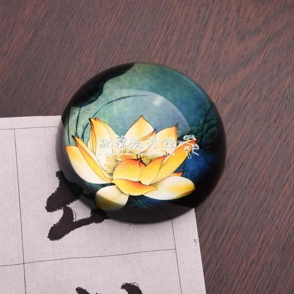 鎮紙創意工筆畫水晶鎮尺文房鎮紙書房國畫書法用品飾品擺件 歐韓流行館