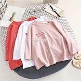 100%純棉女童春裝2021年新款短袖t恤中大童學生韓版時髦洋氣上衣