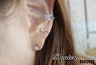 耳環 現貨 韓國時尚甜美 星星水鑽不對稱耳骨耳夾(2色) S6949 批發價  Danica 韓系飾品 韓國連線