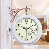 北極星歐式雙面鐘客廳大號兩面掛鐘靜音創意時鐘現代石英鐘表掛表 小艾時尚NMS