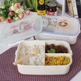 塑料密封四格飯盒午餐分格保鮮盒微波爐多格