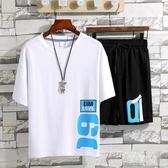 運動套裝 夏季男士青年學生兩件套休閒大碼寬鬆韓版短袖短褲 BT4136【旅行者】