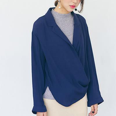 韓版西裝外套棉麻西裝領長袖外套百搭開衫女修身外套【03F0460】