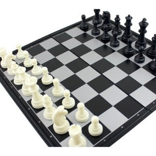 【Ubon】磁性西洋棋(黑白款) 桌上遊戲