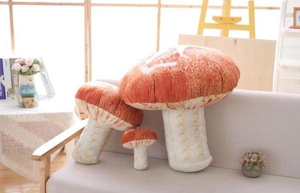 【60公分】仿真香菇娃娃 蘑菇玩偶 布偶 聖誕節交換禮物 生日禮物 餐廳店面擺設裝潢布置