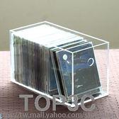 樂居生活亞克力透明CD碟片收納盒整理盒無蓋桌面大容量箱子igo「Top3c」