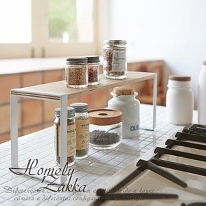 【Homely Zakka】日式簡約木質藝鐵多功能分層置物/調味瓶架