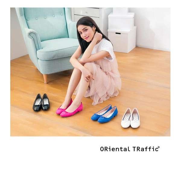 【ORiental TRaffic】俏皮綁帶方頭芭蕾舞鞋-浪漫粉