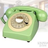 北歐風家用電話機無線插卡復古固定電話座機旋轉老式仿古港風YJT 【快速出貨】