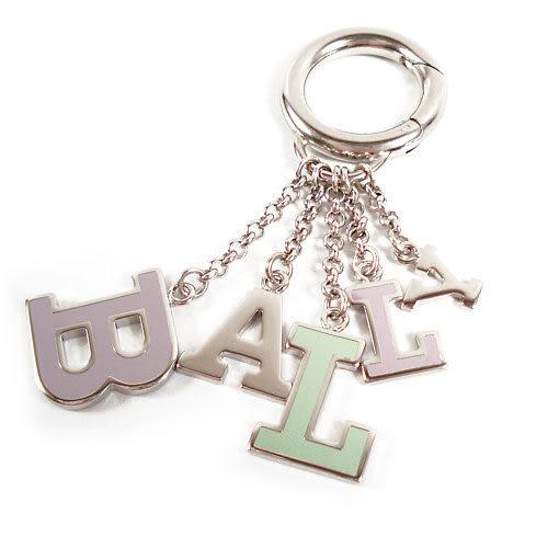 茱麗葉精品 全新精品 BALLY 6142119 LOGO字母吊飾鎖圈