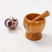 誠享佳品 蒜臼子天然竹木 家用搗蒜器石臼搗藥罐 削蒜 蒜泥器蒜罐