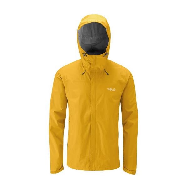 [Rab] (男) Downpour Jacket 防水透氣連帽外套 狄戎黃 (QWF-61-DJ)
