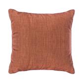HOLA 素色拼色滾邊抱枕60x60cm橘紅米