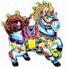 鹿港窯-居家開運商品-台灣國寶交趾陶S十二生肖-馬◆附精美包裝◆免運費送到家