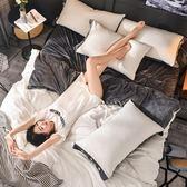A純棉B水晶絨四件套全棉加厚冬季法蘭絨法萊絨被套床單珊瑚絨1.8m igo