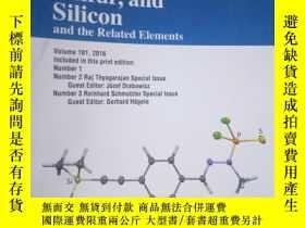 二手書博民逛書店Phosphorus,罕見Sulfur, and Silicon