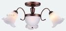 燈飾燈具【燈王的店】古典風系列 半吸燈3+2燈 客廳燈 房間燈 PP塑料罩 TY-77-3P