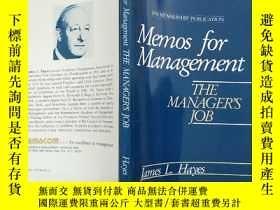 二手書博民逛書店memos罕見for management the manage