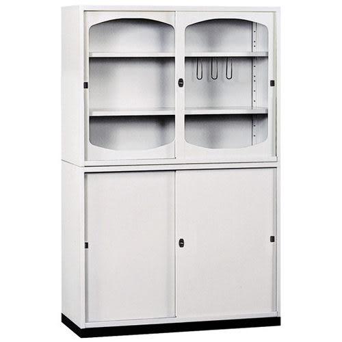 【時尚屋】K415圓框A級4x6拉門鐵櫃Y116-4免運費/台灣製/免組裝